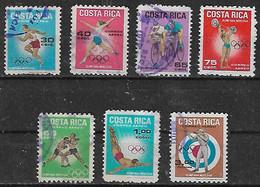 1968 Costa Rica Deporte Juegos Olimpicos 7v. - Costa Rica