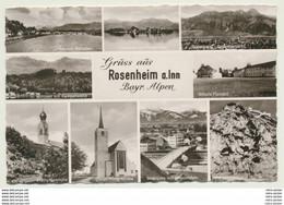 AK   Rosenheim Kirche Brücke Schule Total See 1959 - Rosenheim