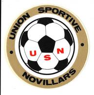 "ANCIEN-AUTOCOLLANT-STICKERS De Club De Football  ""Union-Sportive-Novillars  (25-Doubs) - Stickers"