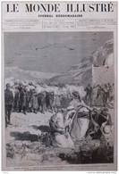En Algérie - Sahara Oranais - Exécution De Trois Habitants De Chellala Dahr'mia - Page Original  1881 - Historical Documents