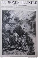 En Algérie - Les Incendies De La Province De Constantine - Petite Kabylie - Page Original  1881 - Historical Documents