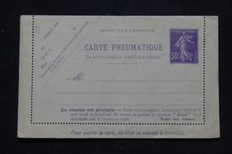 FRANCE - Pneumatique Type Semeuse Avec Réponse, Non Circulé  - L 93548 - Neumáticos