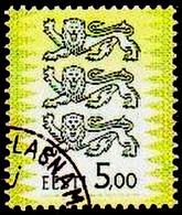 2002 Estonia ESTLAND Coat Of Arms Tre Lions Used. Mi. Nr. 413 II Used ( 0 ) 5 Kroon - Estonia