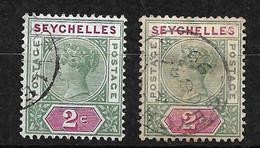 Seychelles       UK   N° 1A Et 1B  Oblitérés       B /TB Voir Scans Soldé Le Moins Cher Du Site  ! ! ! - Seychelles (...-1976)