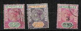 Seychelles       UK   N°2; 9 Et 14 Oblitérés       B /TB Voir Scans Soldé Le Moins Cher Du Site  ! ! ! - Seychelles (...-1976)