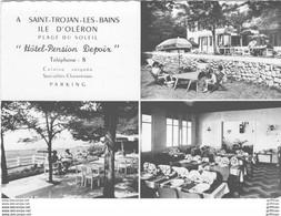 ILE D'OLERON SAINT TROJAN HOTEL PENSION DEPOIX 1964 CPSM GM TBE - Ile D'Oléron