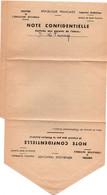 Médecine Scolaire 1961 - Note Confidentielle Pour Les Parents - Scan Recto-verso - Diploma & School Reports