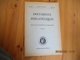 Academie Philatelie Documents Philateliques 1962 Lineaire Bruxelles Chili N 6  Etc ... Sommaire Photo - Ohne Zuordnung
