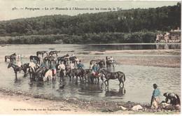 FR66 PERPIGNAN - Brun 931 - Colorisée - Le 11° Hussards à L'abreuvoir Sur Les Rives De La Tet - Lavandières Animée Belle - Altri Comuni
