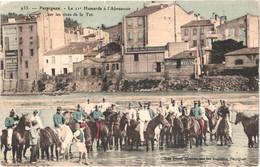 FR66 PERPIGNAN - Brun 933 - Colorisée - Le 11° Hussards à L'abreuvoir Sur Les Rives De La Tet - Lavandières Animée Belle - Altri Comuni