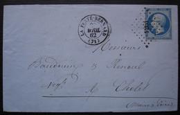 Ferté-Bernard (la) 1862 Pc 1261, Lettre Pour Cholet - 1849-1876: Classic Period