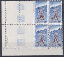 Cameroun PA N° 102 XX Jeux Olympiques D'hiver à Grenoble En Bloc De 4 Coin Daté, Sans Charnière, TB - Kamerun (1960-...)