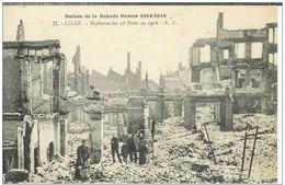 Cpa  59 Lille * Explosion Des 18 Ponts En 1916 , Ww1 , Non écrite - Lille