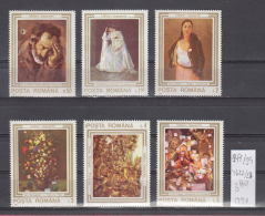 39K149 / 1990 - Michel  Nr. 4622/27 -  Paintings Damaged During The Uprising ** MNH Romania Roumanie - Unused Stamps