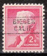 Locals USA Precancel Vorausentwertung Preo, Locals California, Biber 745 - Precancels