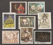 France - Tableaux - Petit Lot De 8° - Le Nain - Van Gogh - Boucher - Arman - De La Tour - Chapelain Midy - Lots & Kiloware (max. 999 Stück)