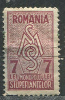 Revenue Stamp - Social Support And Assistance - Drug Monopoly - Erinnophilie