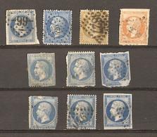 France 1853 - Napoléon III - Petit Lot De 10° - Lots & Kiloware (mixtures) - Max. 999 Stamps