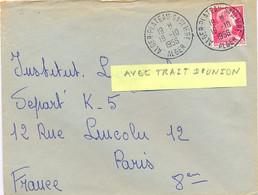 ALGERIE ALGER-PLATEAU-SAULIERE (avec Trait D'Union) ALGER TàD 19-10-1956 - Cartas