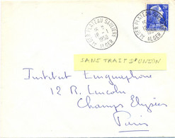 ALGERIE ALGER PLATEAU SAULIERE (sans Trait D'Union) ALGER TàD 18-1-1958 - Storia Postale