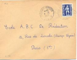 ALGERIE TAOURIRT-MIMOUN (avec Trait D'Union) ALGER TàD RECETTE DISTRIBUTION 9-2-1954 - Cartas