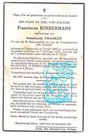 DP Franciscus Kindermans ° Nieuwrode Holsbeek 1883 † Rillaar Aarschot 1960 X Anastasia Vranken - Devotion Images
