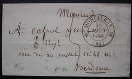 Montauban 1838 Cad T12, Pour Bordeaux - 1801-1848: Précurseurs XIX
