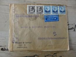 ESPAGNE : Enveloppe Avec Censure, Par AEROPOSTALE, 1937 ................ Class - Lettres & Documents