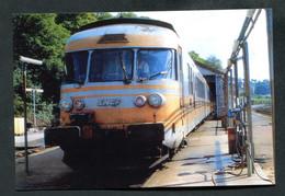 """Photo-carte Moderne """"Turbotrain RTG Au Dépot De La Gare De Granville"""" Années 90 - SNCF - Granville"""