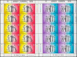 Jersey 192-195C Europa Postgeschichte - Zähnung C, Kleinbogen-Satz ** - Jersey