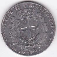 Regno Di Sardegna 5 Lire 1849 P Genova. Ancoretta. Carlo Alberto, En Argent - Italian Piedmont-Sardinia-Savoie