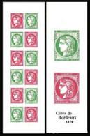 France 2020 - Yv N° 1527 ** - Carnet - Salon D'Automne - Cérès De Bordeaux (timbres 5450 à 5453) - Neufs