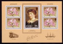 JERSEY BLOCK 4 POSTFRISCH(MINT) LILIEN 1986 - Non Classés