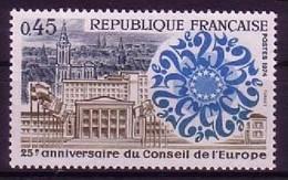 FRANKREICH MI-NR. 1872 POSTFRISCH(MINT) MITLÄUFER 1974 EUROPARAT - Ideas Europeas