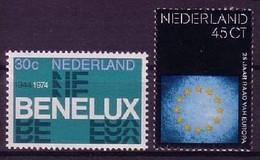 NIEDERLANDE MI-NR. 1035-1036 POSTFRISCH(MINT) MITLÄUFER 1974 - BENELUX - Ideas Europeas