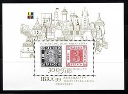 DEUTSCHLAND BLOCK 46 POSTFRISCH(MINT) IBRA'99 NÜRNBERG BRIEFMARKE AUF BRIEFMARKE - Blocks & Kleinbögen