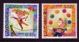 LUXEMBOURG MI-NR. 1579-1580 POSTFRISCH(MINT) EUROPA 2002 - ZIRKUS - 2002