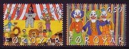 FÄRÖER MI-NR. 423-424 POSTFRISCH(MINT) EUROPA 2002 - ZIRKUS - 2002
