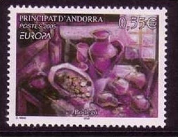 ANDORRA FRANZÖSISCH MI-NR. 629 POSTFRISCH(MINT) EUROPA 2005 GASTRONOMIE - 2005