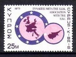 ZYPERN MI-NR. 397 POSTFRISCH(MINT) MITLÄUFER 1973 ASSOZIIERUNG ZYPERNS MIT DER EWG - Ideas Europeas