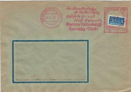 FK Allgemeine Ortskrankenkasse Neuenbürg Volksschutz EIgennutz AFS  - Notopfer Berlin 1951 - Covers & Documents