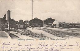 57 - METZ -GARE ANCIENNE 3 EME -PLACE ROI GEORGE - SNCF CHEMINS DE FER - INTERIEUR COTE QUAIS - HURLIN N°74 - Metz