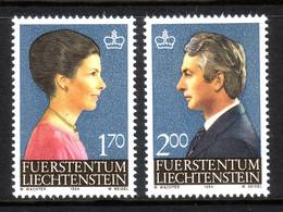 LIECHTENSTEIN MI-NR. 864-865 POSTFRISCH(MINT) ERBPRINZ HANS-ADAM PIUS Und ERBPRINZESSIN MARIE - Royalties, Royals