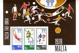 MALTA BLOCK 5 POSTFRISCH(MINT) FUSSBALL WM ARGENTINIEN 1978 - Malta