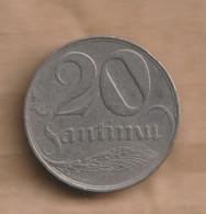 LETONIA 20 Santimu 1922 Nickel • 4.00 G • ⌀ 21 Mm KM# 5, Schön# 5 - Latvia