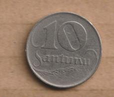 LETONIA 10 Santimu 1922 Nickel • 3 G • ⌀ 19 Mm KM# 4, Schön# 4 - Latvia