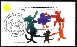 DEUTSCHLAND BLOCK 64 GESTEMPELT(USED) FÜR UNS KINDER 2003 TIERE TANZEN - Blocks & Kleinbögen