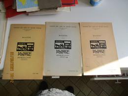 Lot De 3 Bulletin Amis Musee Postal 1963 - Otros