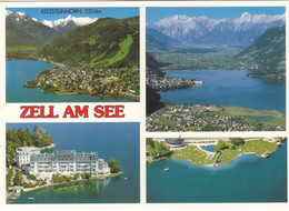 2228) ZELL Am SEE - Tolle Mehrbild AK - HOTEL - Kitzsteinhorn - LUFTBILD Mit Bad - U. See TOP !! - Zell Am See