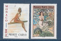 ⭐ Monaco - YT N° 2393 Et 2394 - Neuf Sans Charnière - 2003 ⭐ - Unused Stamps